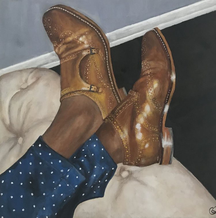 Anthony  24 x 24  acrylic on cradled wood panel
