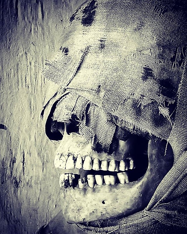 Smile. We're that much closer to Halloween. #skeleton #skull #halloween #goth #emo #smile
