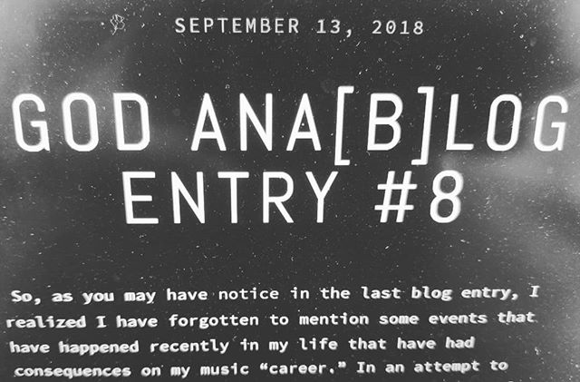 New blog post up! (Link in bio)  https://www.godanalog.com/adam-thoughts/2018/9/13/god-anablog-entry-8  #blog #blogger #musicblog #music #rock #goth #emo #band #13reasonswhy #ladygaga #hollywood #showcase