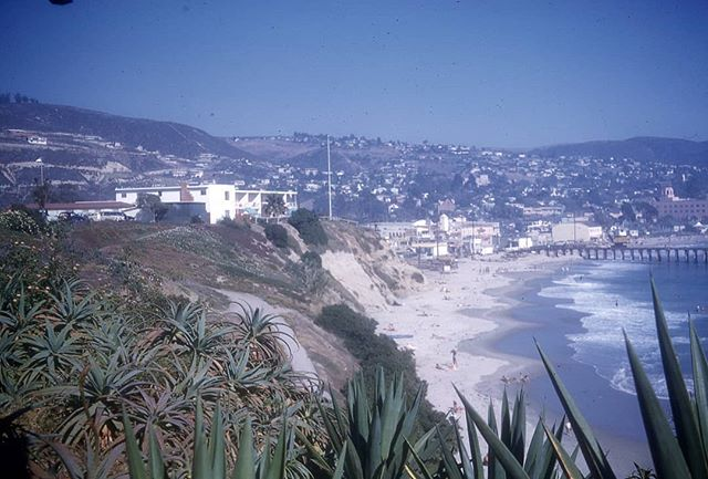 "Kodachrome color slides from the thrift store labeled ""Our trip to San Francisco, 1958"". İ took them home to scan so they could be viewed for the first time in 50+ years. This slide in particular is labeled ""Laguna Beach 1958"". More to come"