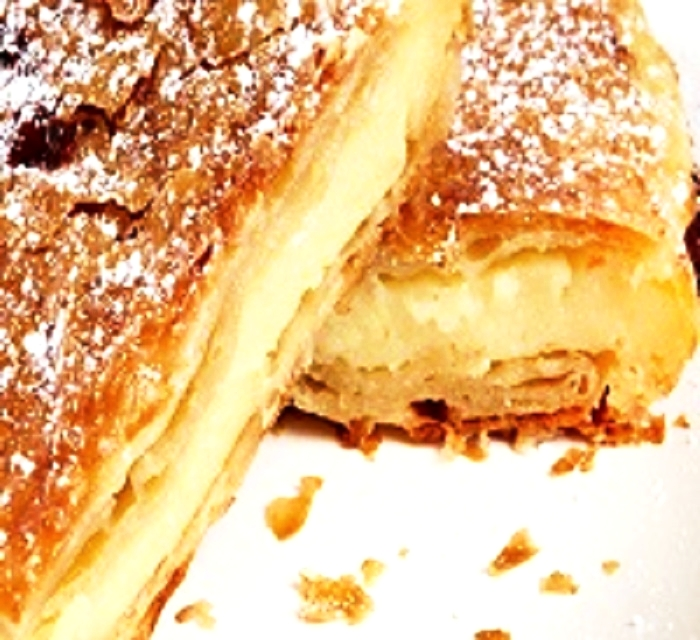 individual - handcrafted Sofia s bougatsa $ 5Dough with hand-crafted creme