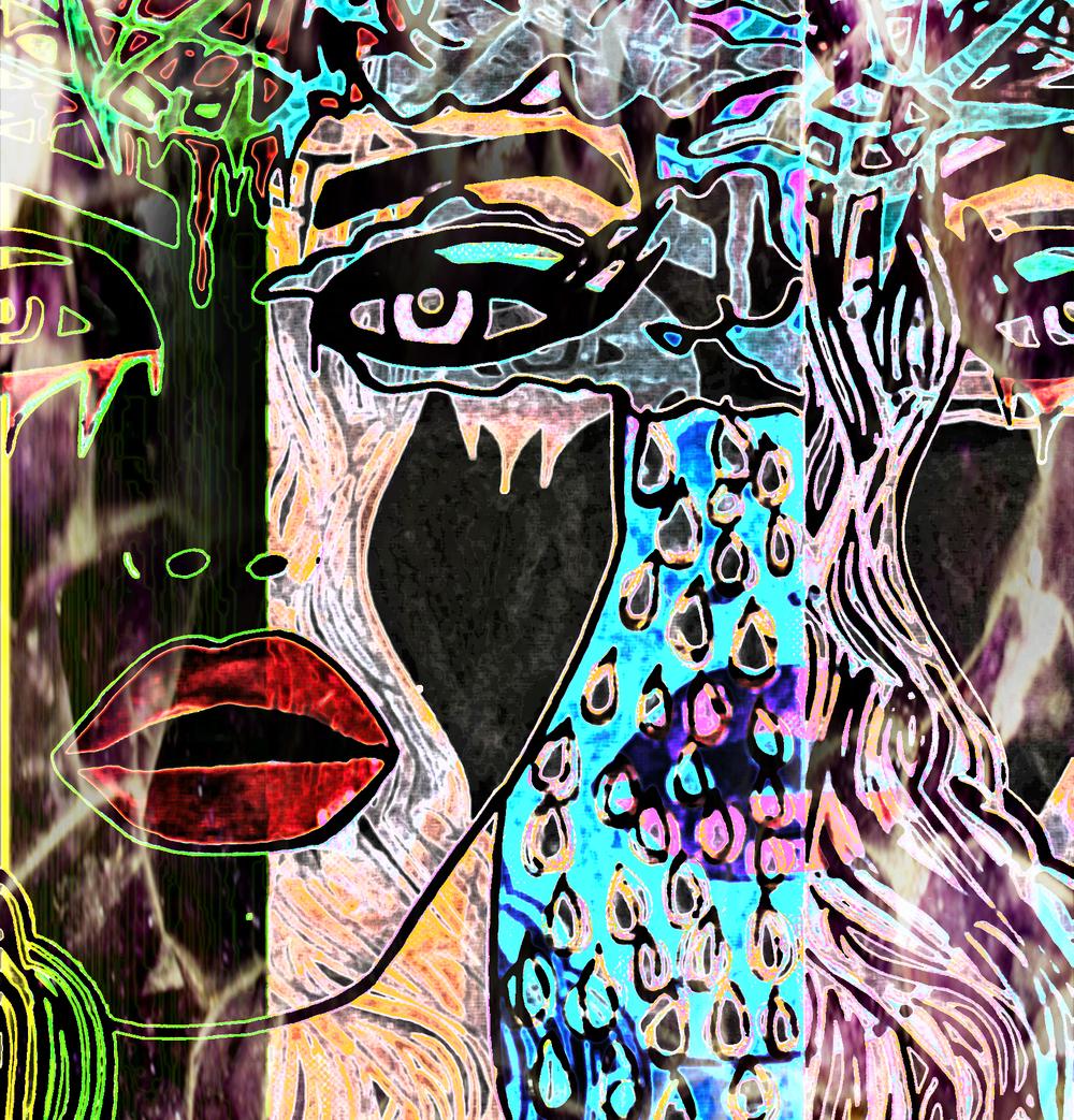 PTSD awake and asleep - Charlotte is an artist, activist, and rape survivor. Read the blog post that accompanies this piece of art.