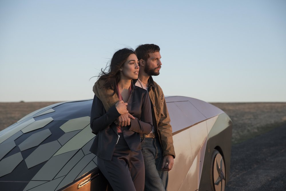 Grey Trace (Logan Marshall-Green) and his wife Asha (Melanie Vallejo) in Leigh Whannell's UPGRADE, courtesy of BH Tilt.jpg