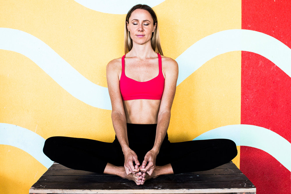 Butterfly pose | The Yoga Garage, Perth