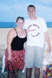 When I got married in 2004, I was at one of my heaviest weights. This picture is from our honeymoon.