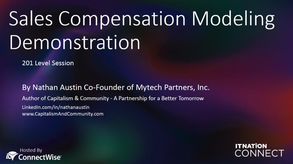 Compensation Modeling Workshop Documents -