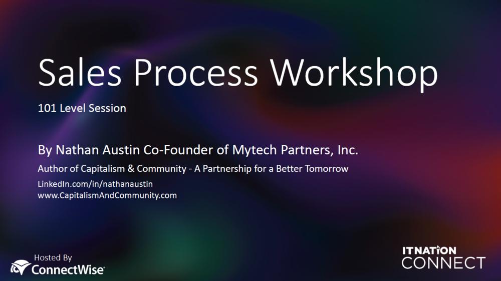 Sales Process Workshop Documents -