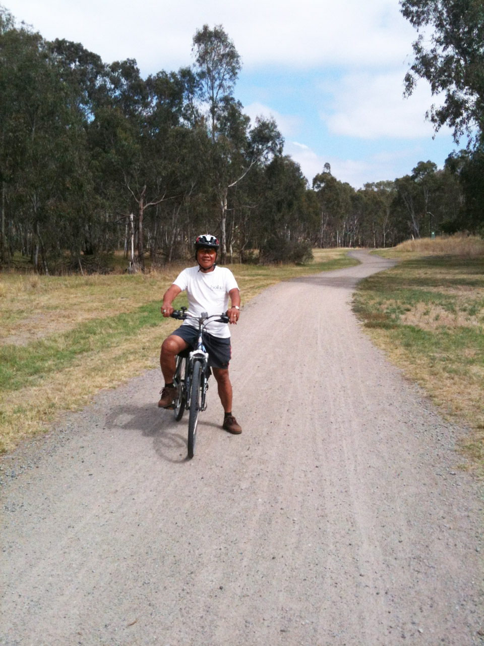 Riding in the Maribyrnong River valley.