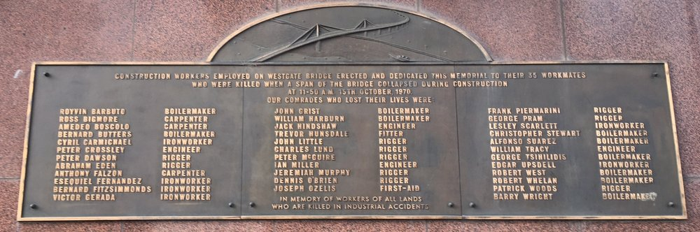 Memorial to Westgate Bridge Disaster