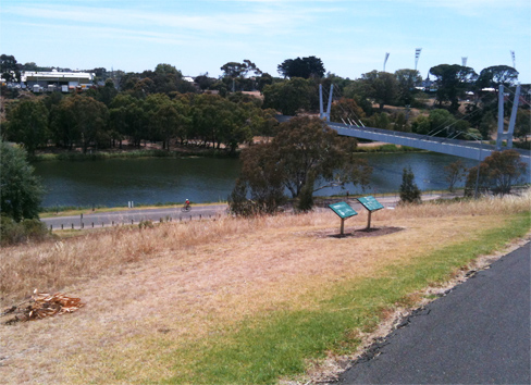 View across the river to Kardinia Park.