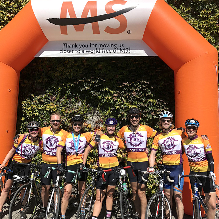 Our team, The Big El West, at the finish line in 2018.