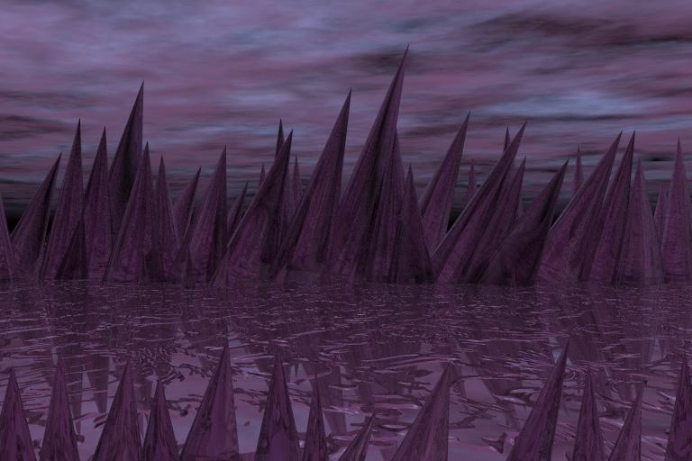 The Glass Plains; created for free with BRYCE 3D