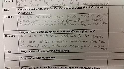 How to write a peer review draft essay