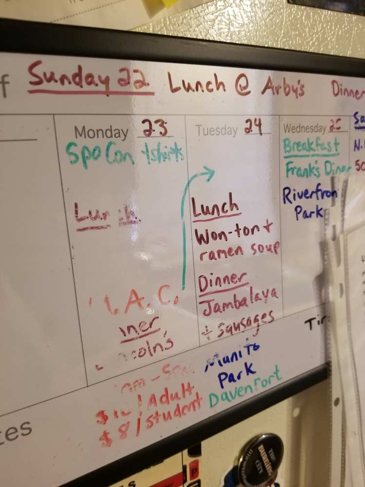 My fridge dry erase calendar has seen better days.