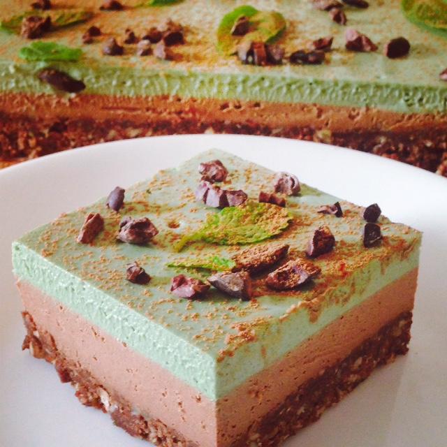 Vegan Cheesecake - Choc Mint-Matcha (Serves 20)