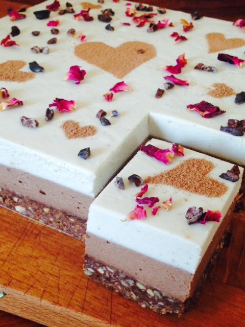 Vegan Cheesecake - Rose Chocolate (Serves 20)