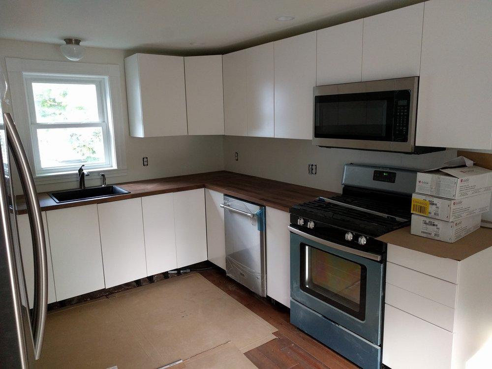 Second floor kitchen after