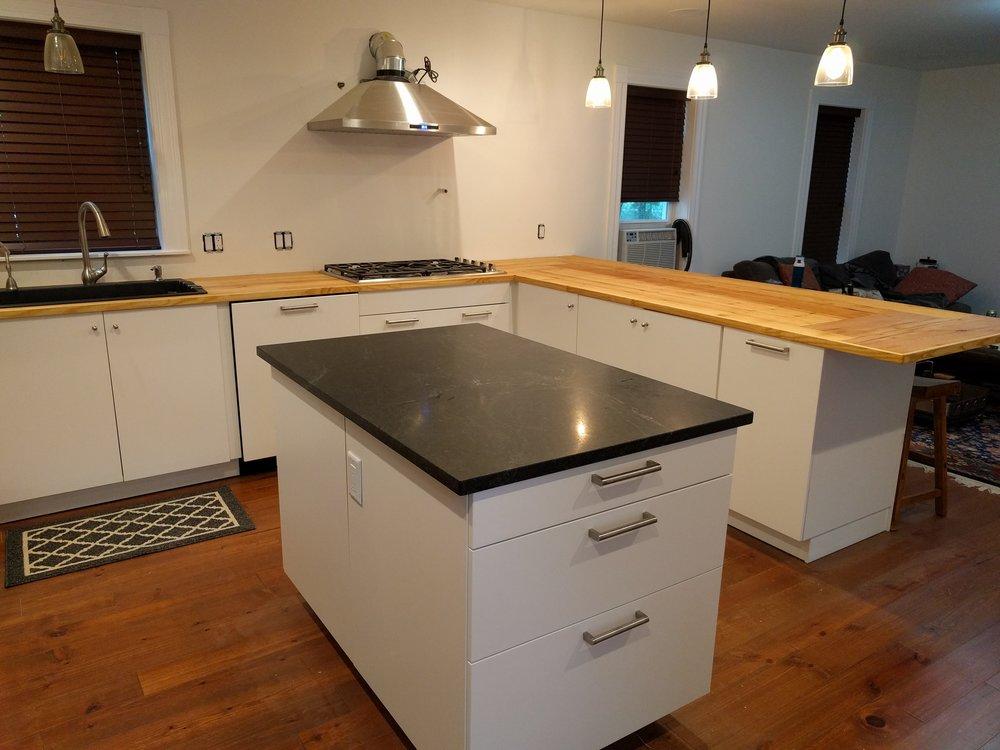 First floor kitchen after
