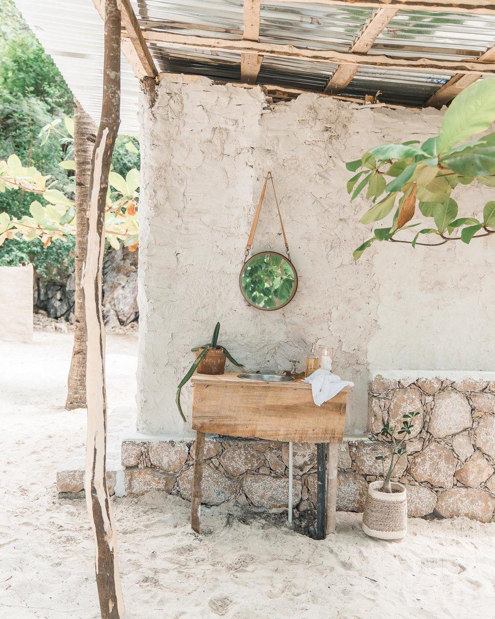 Kin Travel Haiti Glamping Washroom