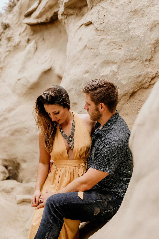La Jolla Cliffs Couples Photography