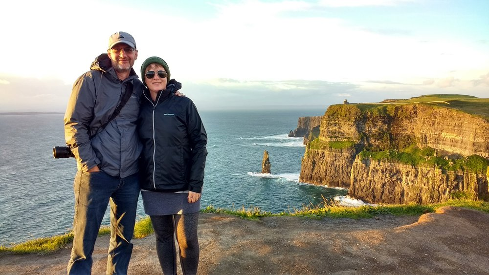 Sunset at the Cliffs of  Moher, Ireland, September 2017