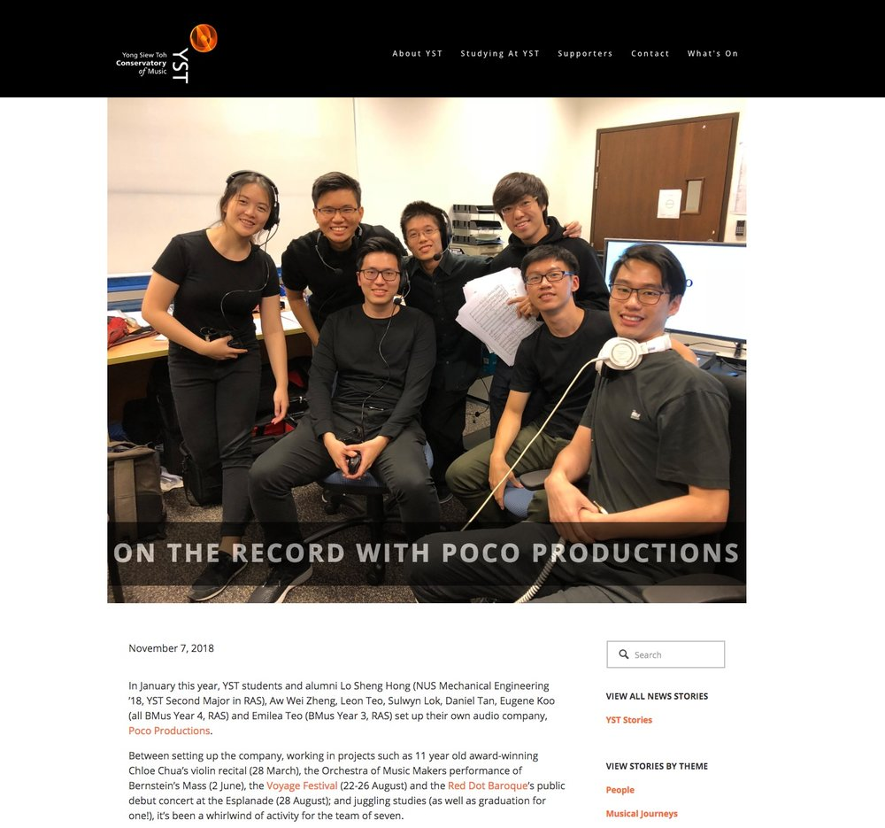 YST Stories - On the record with Poco Productions