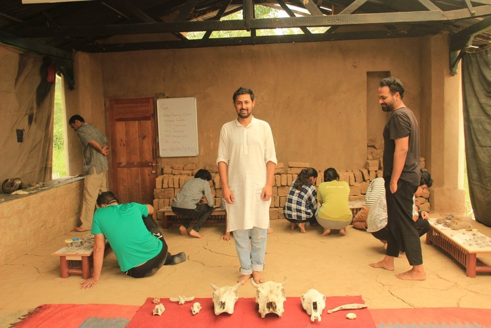 Vikram with the participants at the museum in Kandbari.