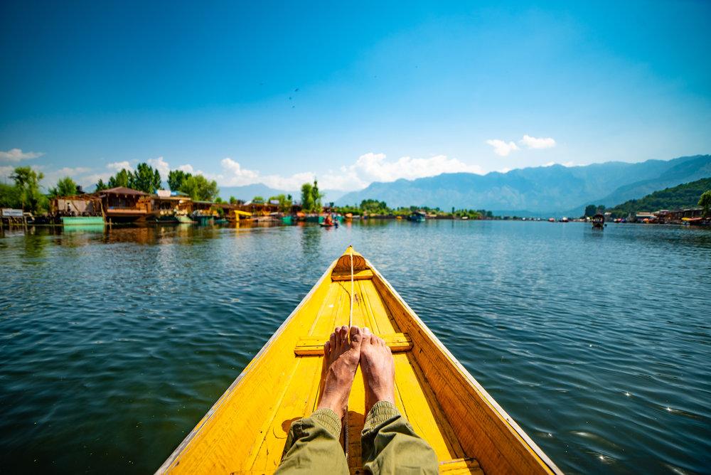 Boating on Dal Lake