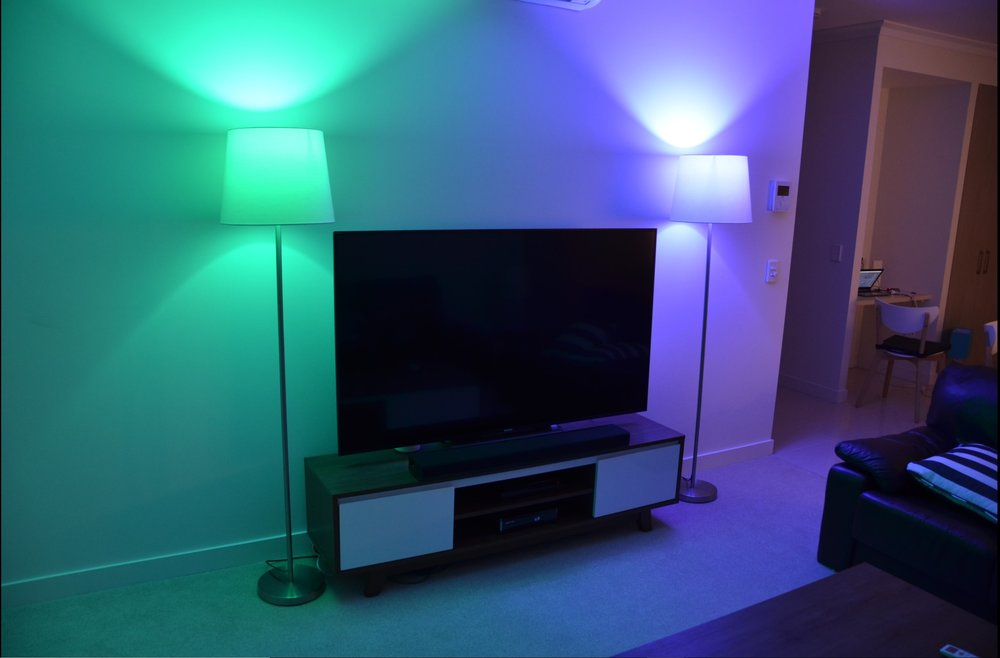 Smart Lighting - Ultimate control of your lighting. Brightness control, all the colours of the rainbow, remote control, alarm synchronisation, voice control - this is the epitome of smart home realisation.
