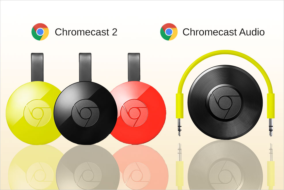 Chromecast - It sucks when you cant watch netflix or youtube on your TV because it's too old.It sucks when you can't stream music from your phone to your older sound system.You guessed it - now you can