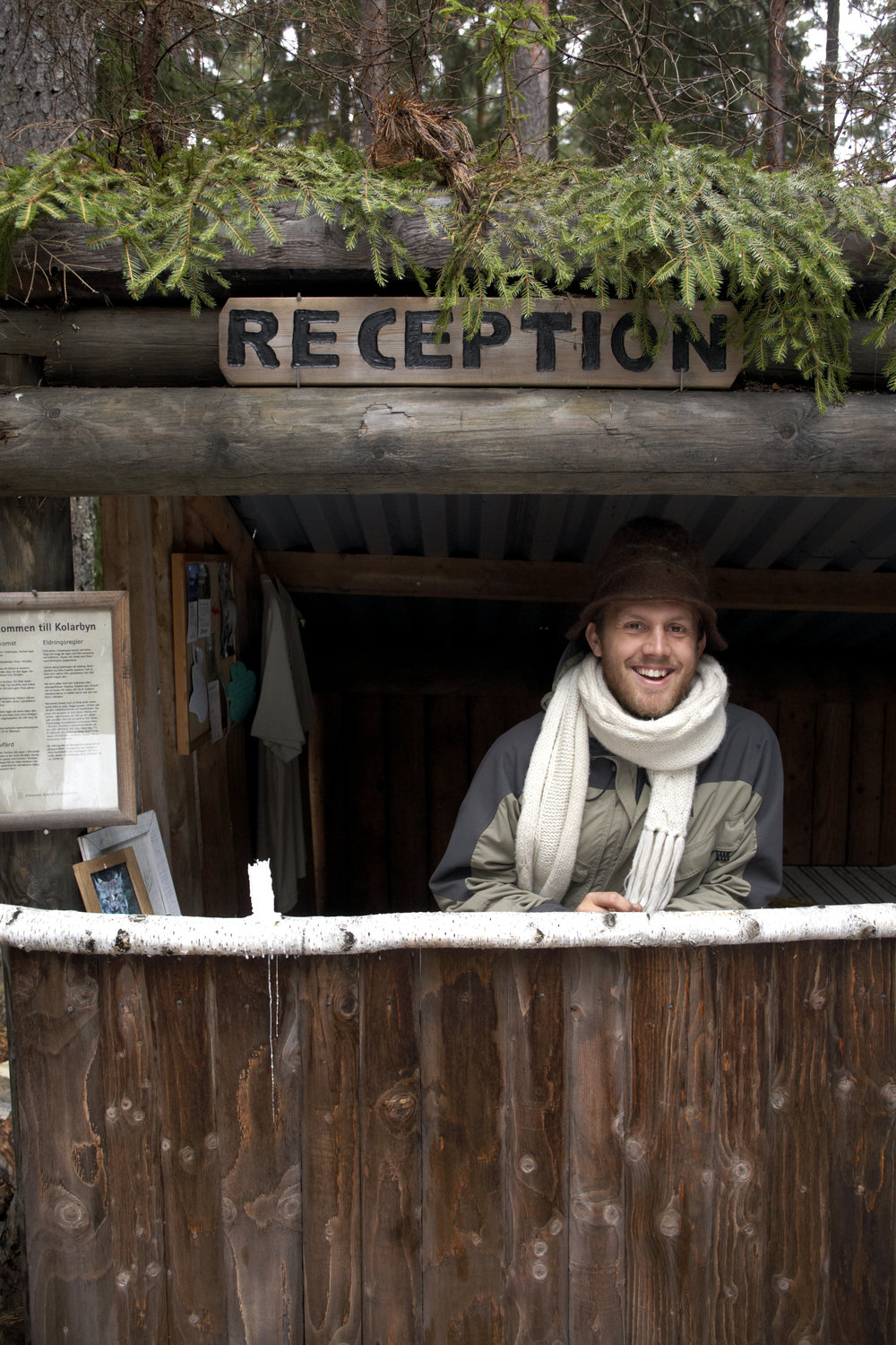 Marcus Eldh opened Kolarbyn Ecolodge to a wider public in cooperation with the Swedish Tourist Association in 2004. Since then thousands of visitors from all over the World has stayed here.