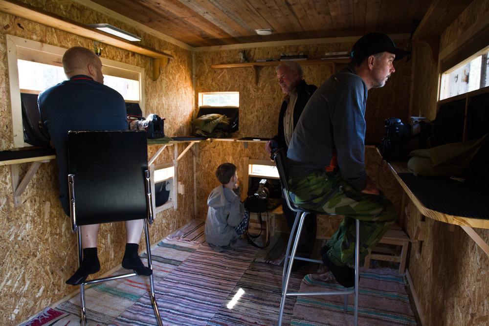 Photo cabin inside. Photo: Sara Wennerqvist