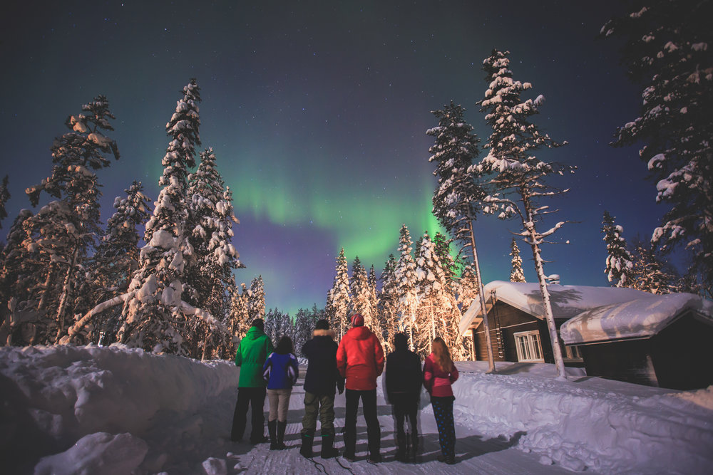 Watching the Northern lights in Sweden
