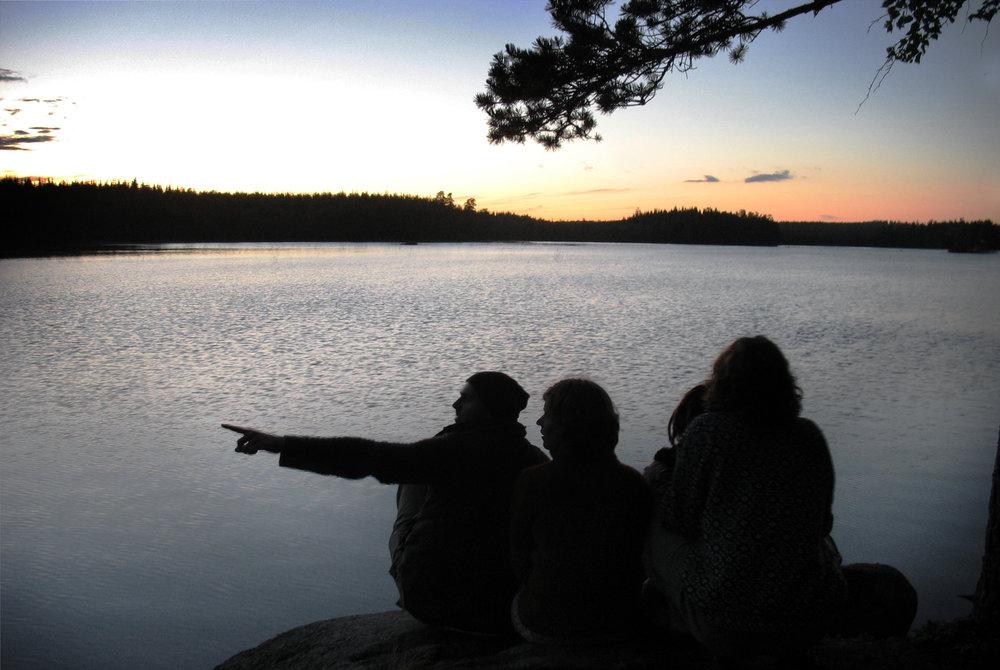 By the lake… Photo: Mikaela Larm