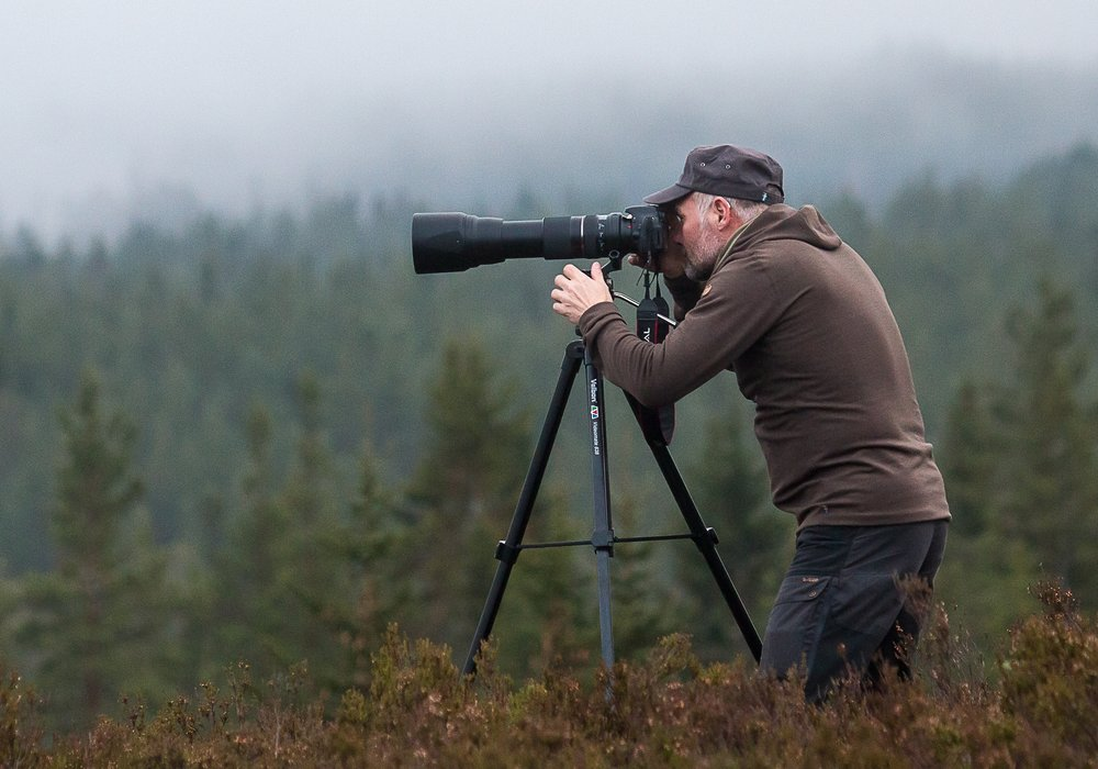 Wildlife photographer. Photo: Jan Nordström