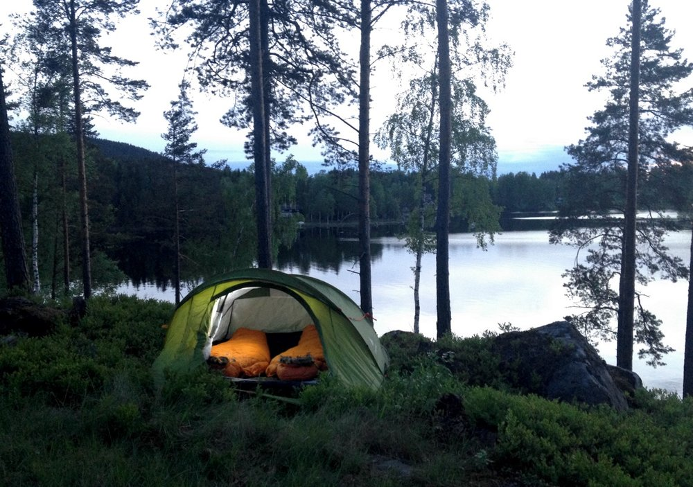 Camping in wolf territory. Photo: Marcus Eldh