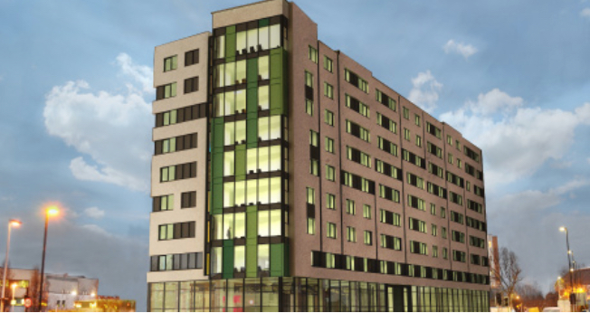 Extra Care, Park Royal - This development consists of 99 self contained flats designed for extra care accommodation, associated communal areas such as dining, laundry, hairdresser, management offices and kitchens and includes four commercial units on the ground floor. The building services design features the provision of renewable energy from roof mounted photovoltaic panels and includes a micro combined heat and power unit. Robinson Associates carries out the full design of all mechanical and electrical building services.