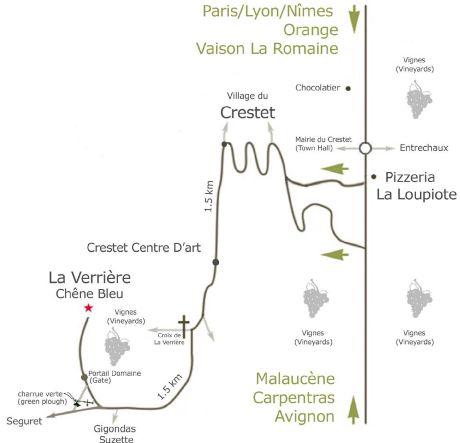 La Verriere map