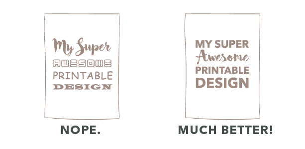 Top 10 printable design mistakes you need to avoid on Etsy | I will show you all the printable design mistakes you should avoid when you are designing your own printables. #TrustMeIAmAGraphicDesigner And no, you don't have to invest in a thousand dollar software ;) You can easily start with Canva (A free platform).
