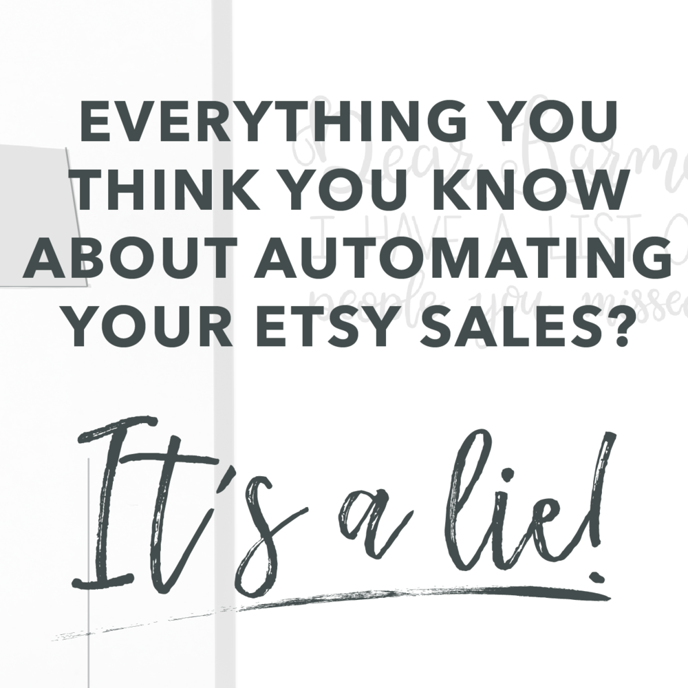 Automate - Learn how you can automate your Etsy Sales by adding a passive income stream through my free 7-day email course
