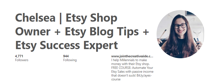 Here is how I make the most out of my Pinterest profile. You see that link in my description? It leads to my email list
