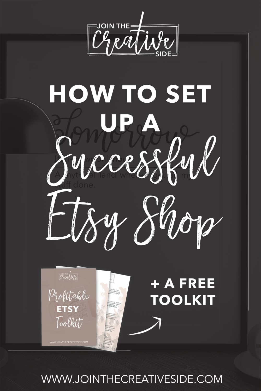 Join The Creative Side | How to set up a successful Etsy shop, and start making sales right away. I will guide you through every step to set up your successful Etsy shop, so you are ready to make sales right away.