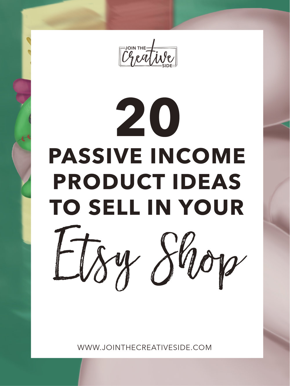 Are you looking for a way to boost your Etsy sales without working harder, but smarter? You should definitely try a passive income stream. Passive income allows you doing the work once, and you will keep getting paid. No clue where to start? I will give you 20 passive income ideas to use in your Etsy shop. #etsy #makemoney #etsymakemoney #passiveincome #makemoneyonline