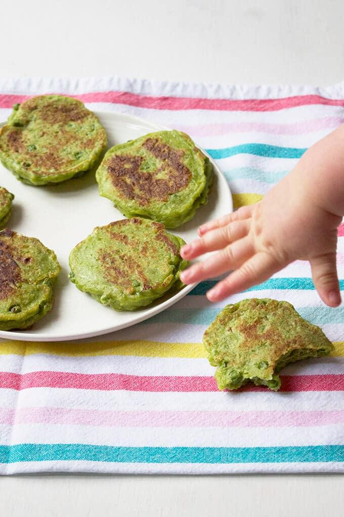 Pea Fritters (aka Green Pancakes)