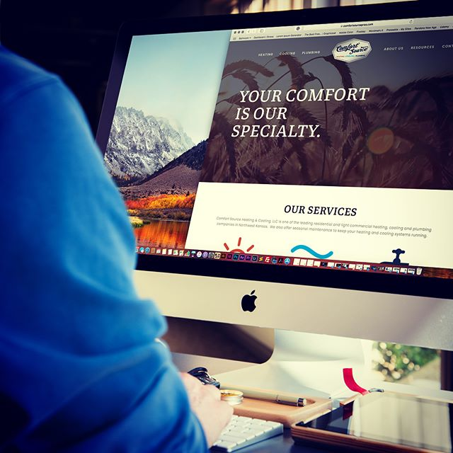 Another website leaves the nest!  We had a great time working with Comfortsourcepros.com on their new website.  Modern, functional, and most importantly professional, we worked closely with them to design a site to elevate their growing business. #webdesign #localbusiness #brandpower #elevateyourbrand #smallbusiness #graphicdesign