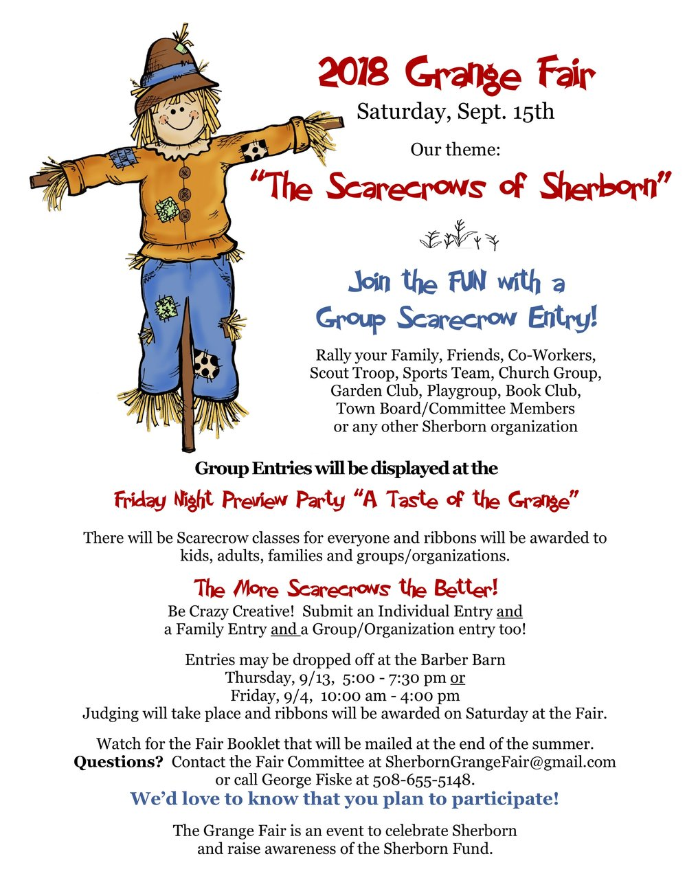 Scarecrow Group Entries!!! - Grab a friend and plan some Scarecrow-y fun! There will be a special category for Group Scarecrow Entries - so start your planning! Be as creative as you would like!