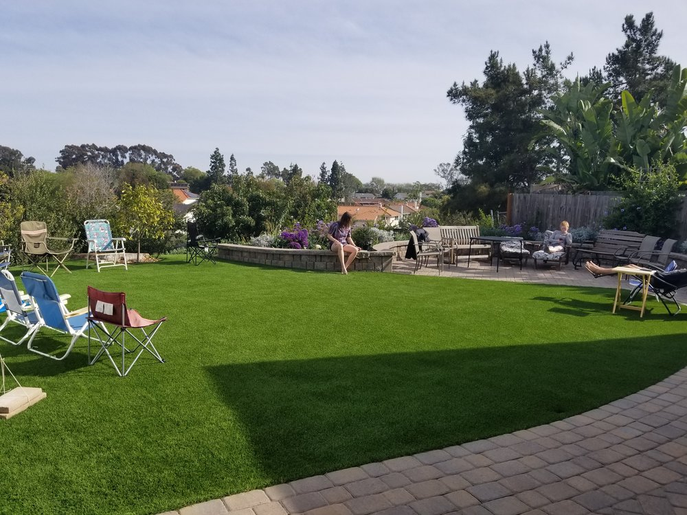 The backyard at Scout and Frodo's