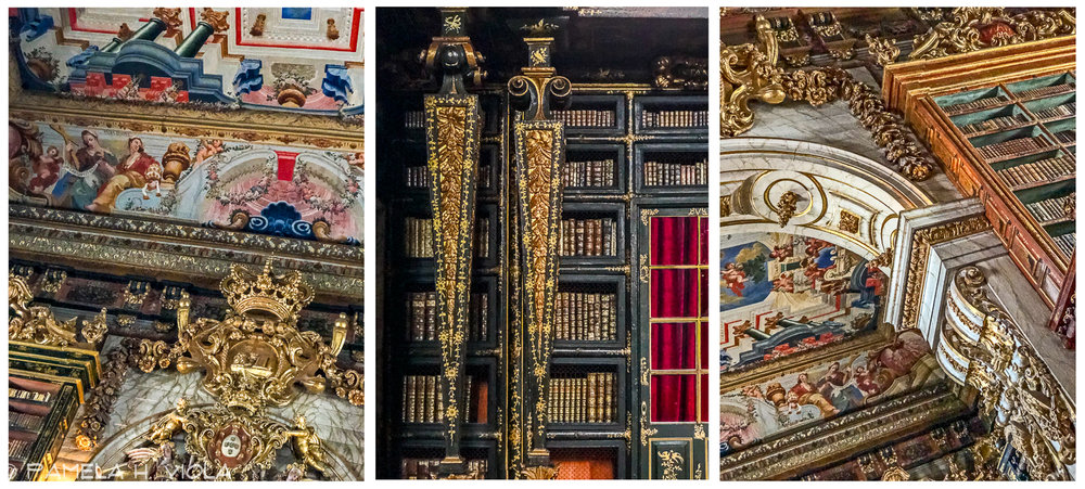 The Joanina Library is a Baroque library situated in the heights of the historic centre of the University of Coimbra. Construction was completed between 1717 and 1728 and the library received its first books in 1750.