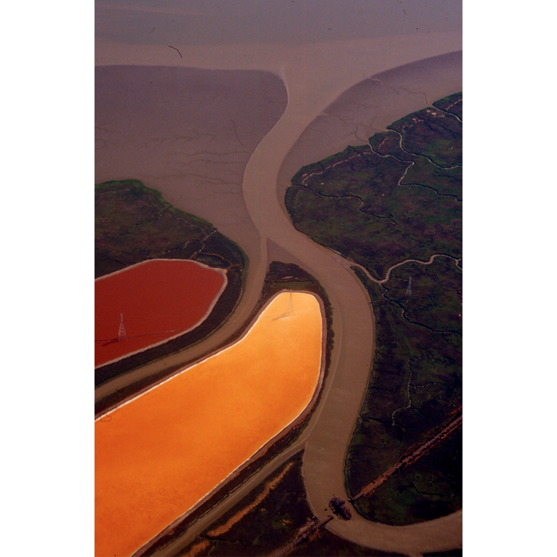 San Francisco (Old Morton Salt Ponds), 2000, original 35mm slide digitized (on an Imacon scanner), dimensions variable