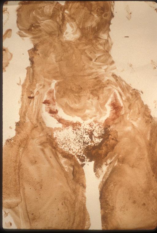 """Seeking Symmetry  1990  Detail, life sized body print 24"""" x 30""""."""